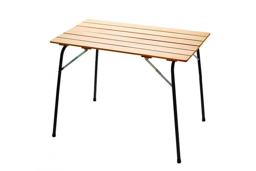 カステルメルリーノ ハイ&ローキャンパーテーブル 100×60 ブラック