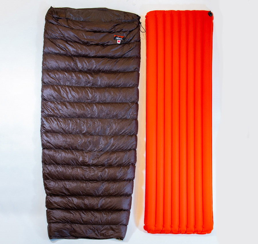 NANGA「超軽量ダウン寝袋&エアマットのセット」