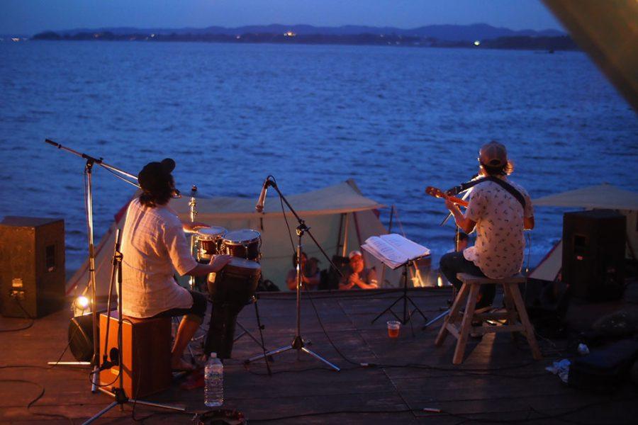 音楽と海とキャンプ